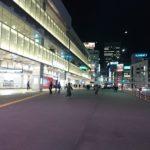 2020年春節最終日夜の新宿駅南口